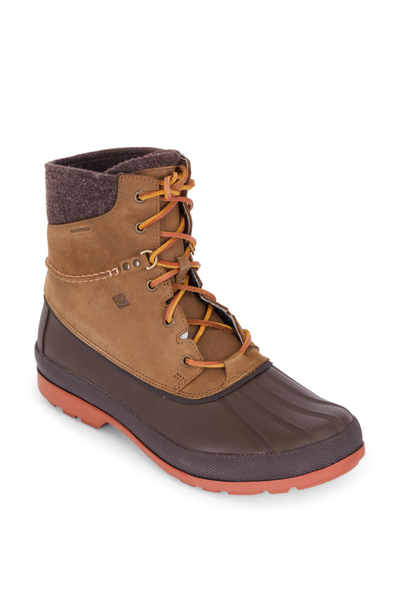 Sperry Cold Bay Dark Brown Vibram Artic Grip Duck Boot