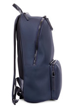 Troubadour - Navy Nylon & Leather Weather-Resistant Backpack