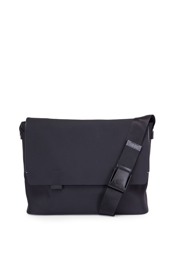 Troubadour Black Nylon Messenger Bag
