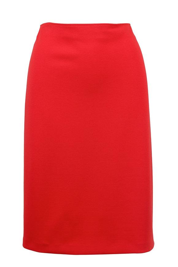 Emporio Armani Rose Red Pencil Skirt