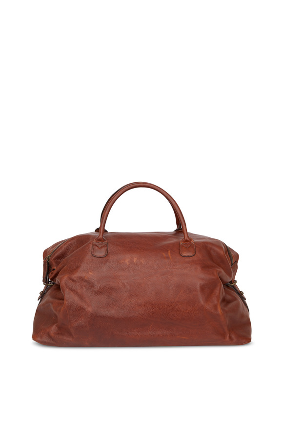Moore & Giles Benedict Honey Titan Milled Leather Weekend Bag