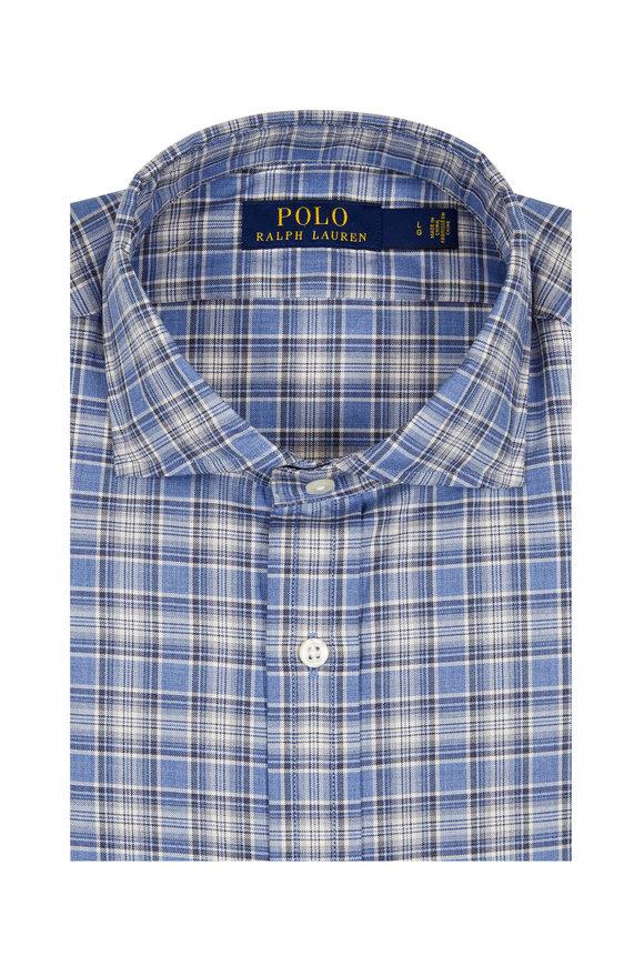 Polo Ralph Lauren Blue Plaid Sport Shirt