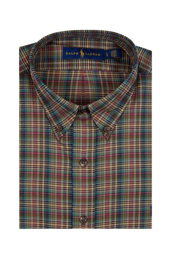 Polo Ralph Lauren Brown Multicolor Classics Plaid Sport Shirt