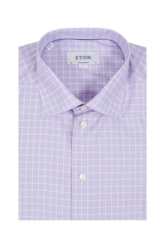 Eton Lavender Check Sport Shirt