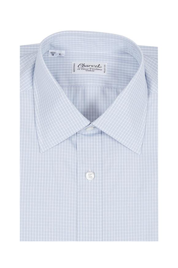 Charvet Light Gray Check Dress Shirt