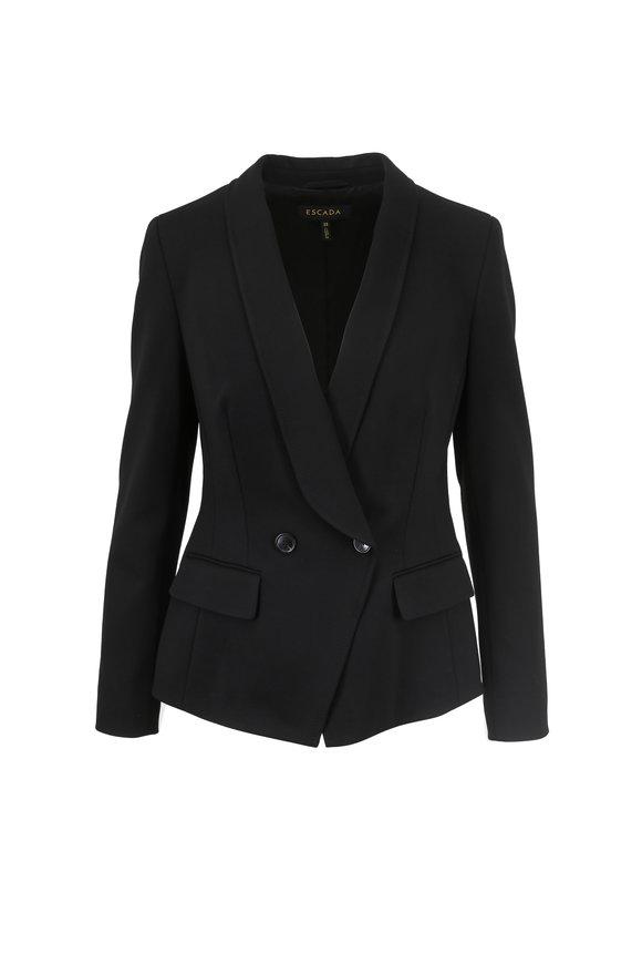 Escada Beskar Black Double-Breated Jacket
