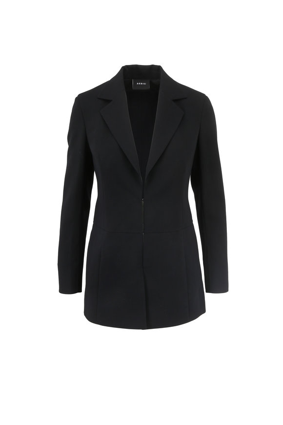 Akris Obrian Black Double-Faced Wool Jacket