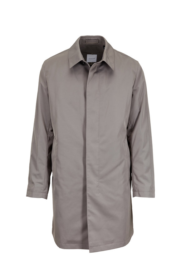 Sanyo Fashion House Leonard Pebble Micro Nylon Twill Trench Coat