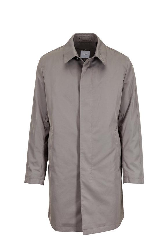 Sanyo Fashion House Leonard Pebble Micro Nylon Twill Trench Coat