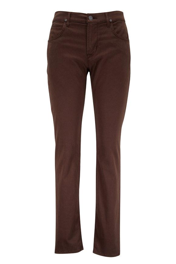 Hudson Clothing Blake Brown Slim Straight Five Pocket Jean