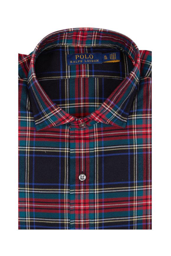 Polo Ralph Lauren Black & Red Holiday Plaid Sport Shirt