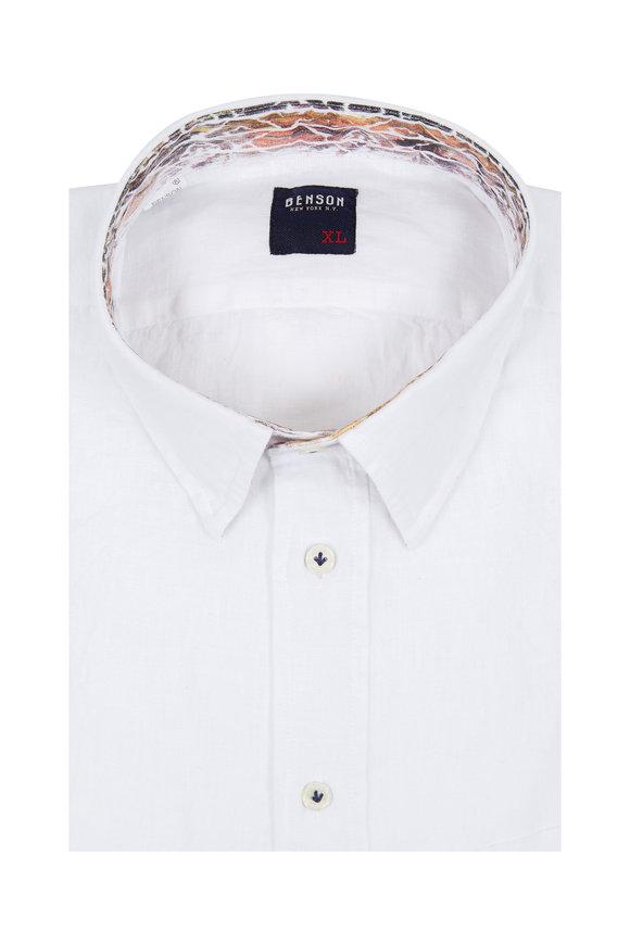 Benson  White Linen Sport Shirt