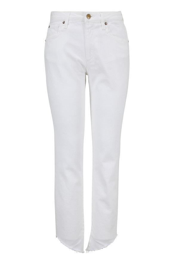 Acynetic Denim Loren White Mid-Rise Jean