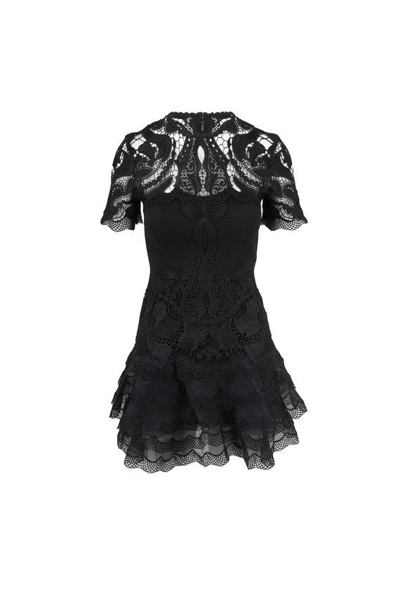 Jonathan Simkhai Black Crêpe Mini Tee Dress