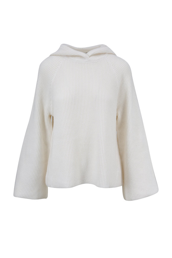 Elizabeth & James Tristan Creme Cashmere Hooded Sweater