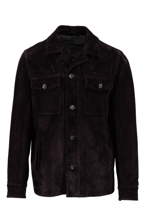Ajmone Black Suede Jacket