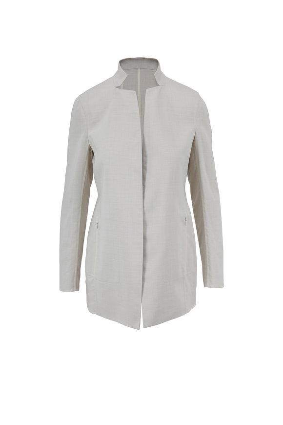 Akris Paper & Craft Wool Reversible Jacket With Scarf