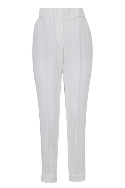 Brunello Cucinelli - White Pull-On Ankle Pant