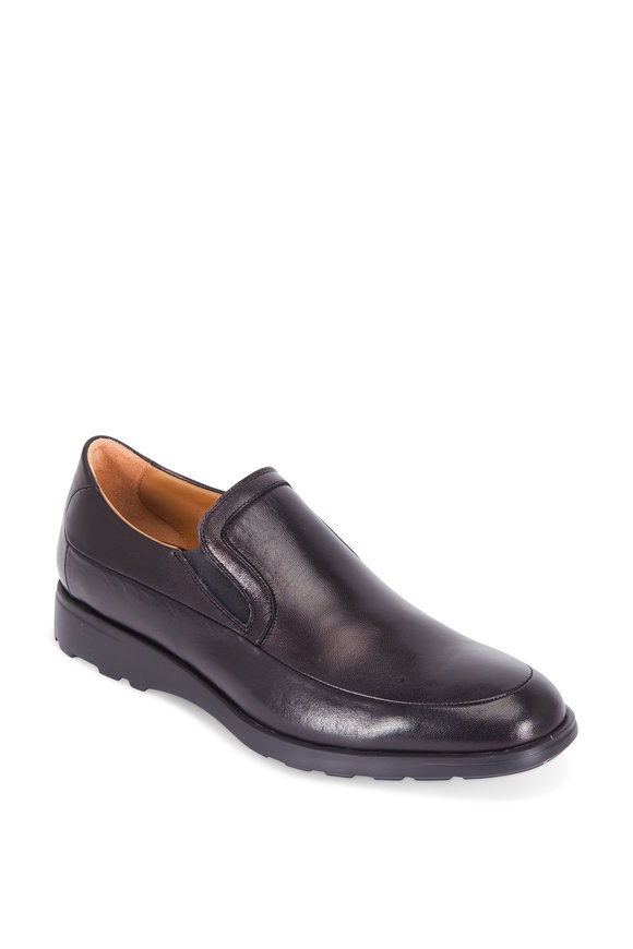 Bruno Magli Vegas Black Leather Extralight Loafer