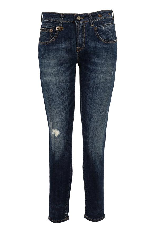 R13 Boy Skinny Vintage Distressed Jean