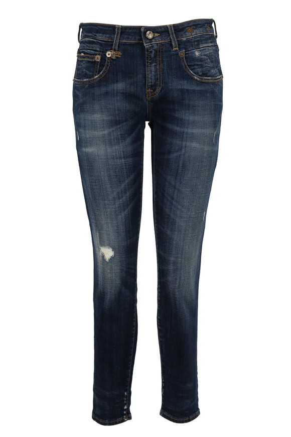 R13 Boy Skinny Vintage Distressed Jean