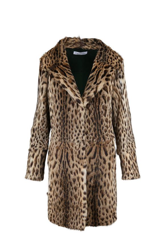 Oscar de la Renta Furs Natural Lippi Stroller Coat