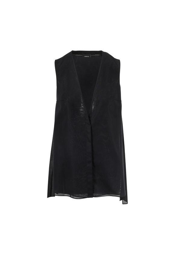 Akris black blouse