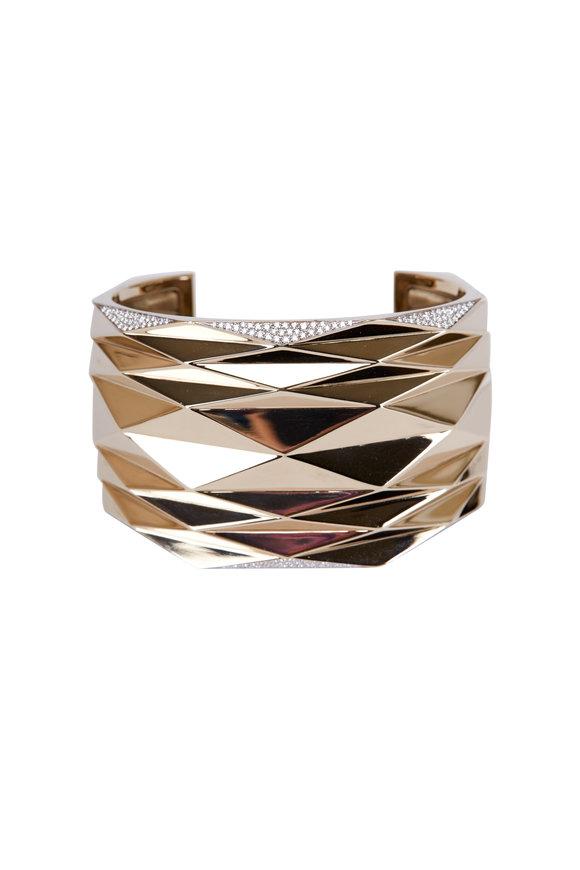 Vhernier Gold & Diamond Abstract Cuff