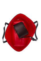 Mansur Gavriel - Black Leather Contrast Red Lined Large Tote
