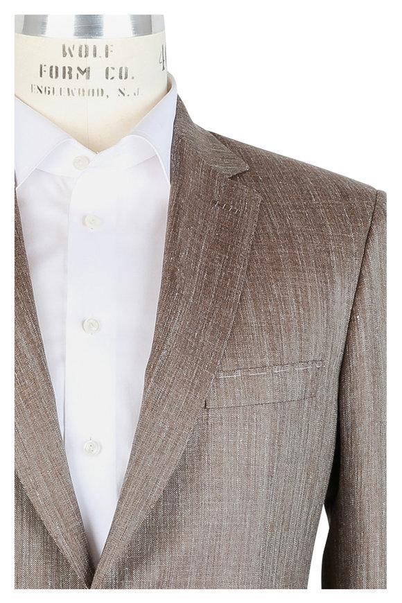 Brioni Tan Wool, Silk & Linen Sportcoat