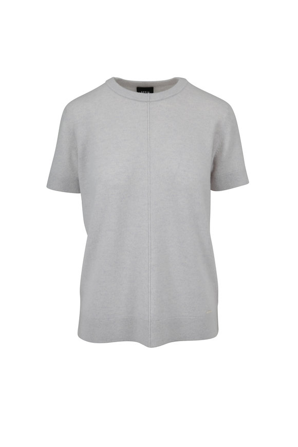 Akris Clay Cashmere Short Sleeve Sweater