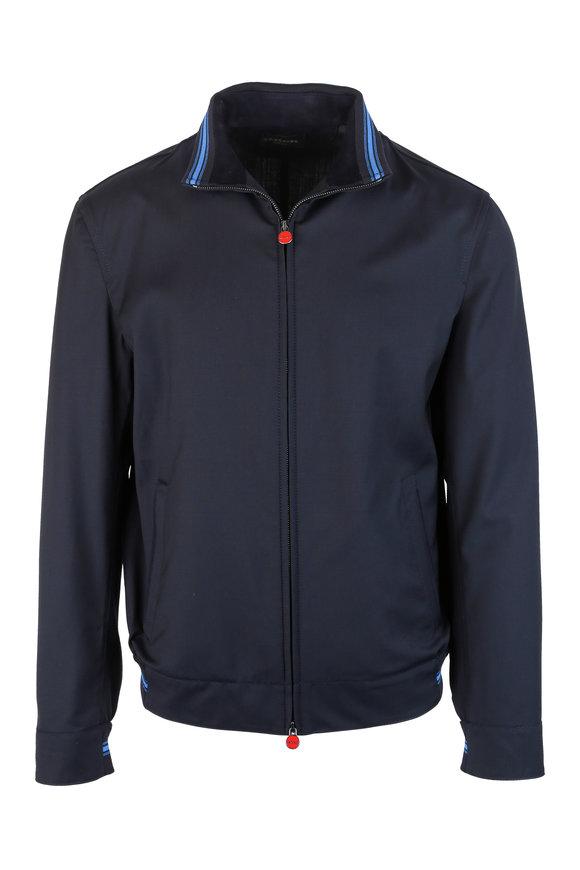 Kiton Navy Blue Wool Jacket