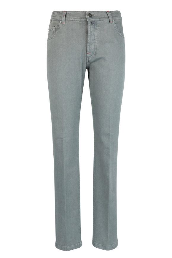 Kiton Gray Stretch Jean