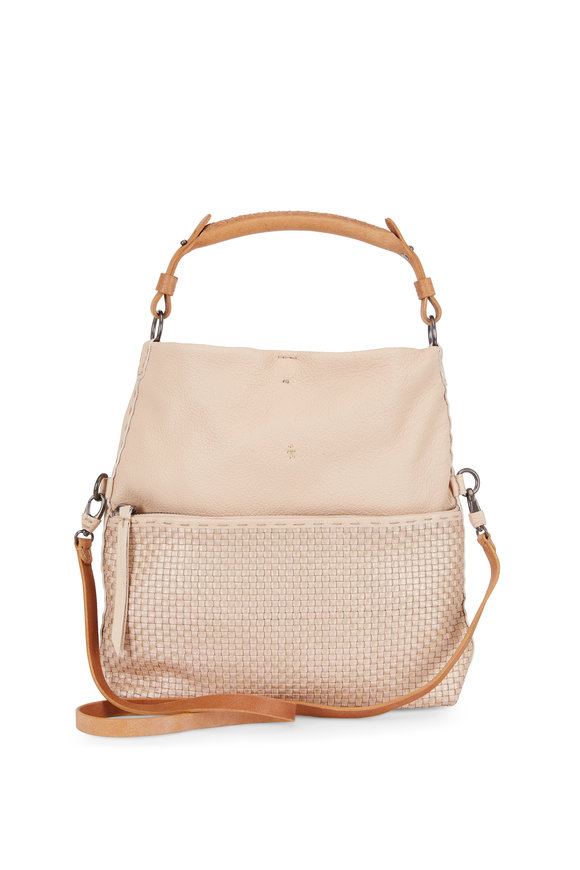 Henry Beguelin Andy Cipria Smooth & Woven Leather Crossbody
