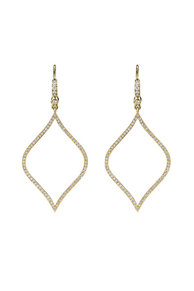 Penny Preville - Gold Pave Diamond-Shape Earrings