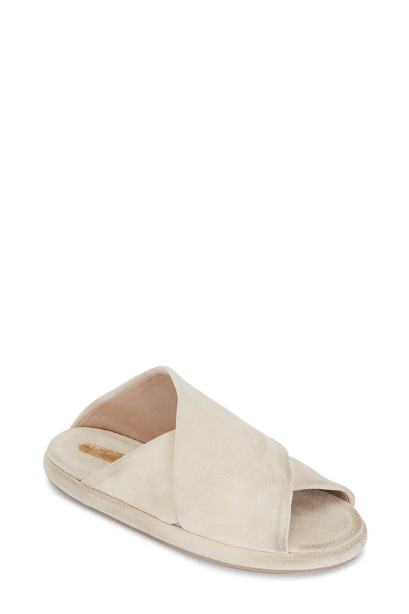 Marsell Biscotto Suede Criss-Cross Slide