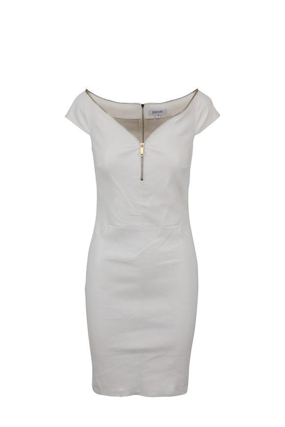 Jitrois Diva Ivory Leather Mini Dress