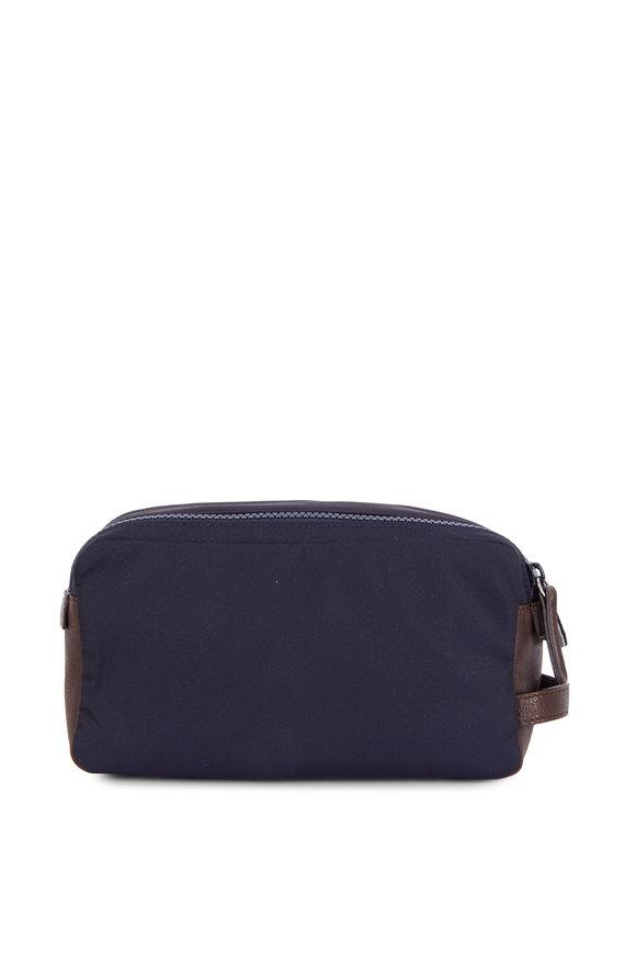 Brunello Cucinelli Navy Blue Nylon Dobb Kit