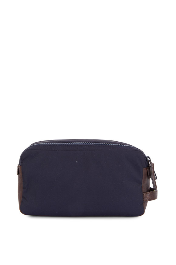 Brunello Cucinelli Navy Blue Nylon Dobb Kit