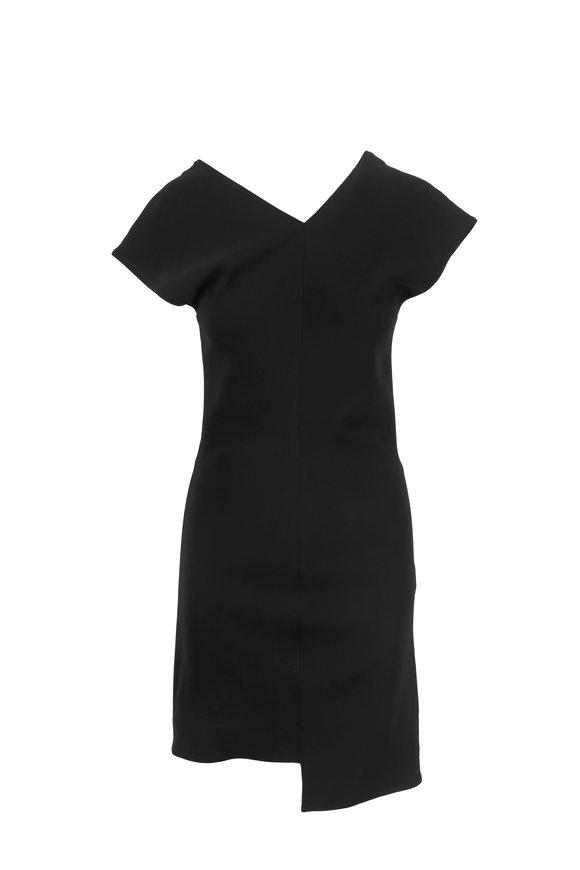 Helmut Lang Black Stretch Shift Dress