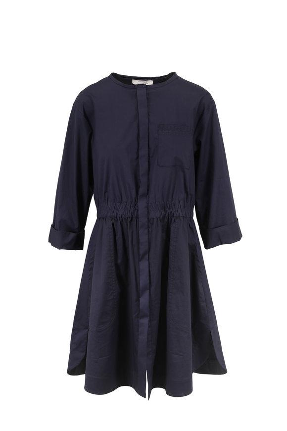Dorothee Schumacher Navy Blue Effortless Modernity Dress