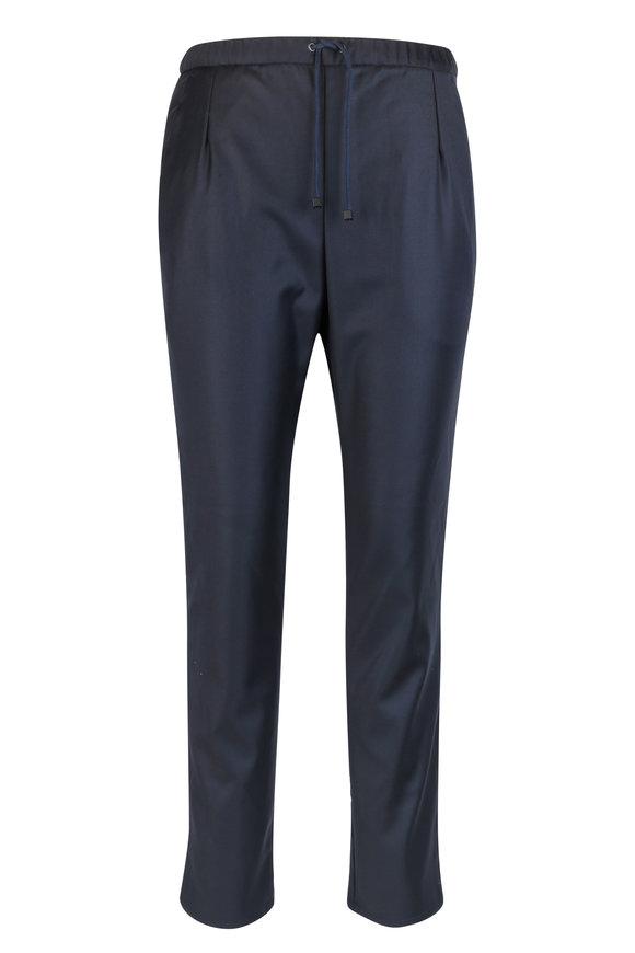 Presidents Traveler Navy Blue Wool Trouser