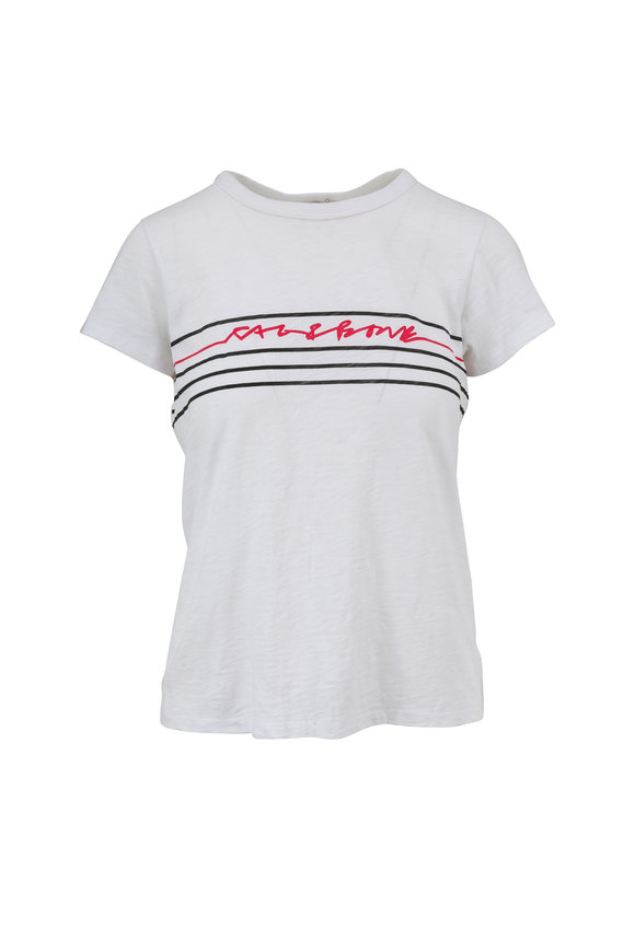 Rag & Bone White Script T-Shirt
