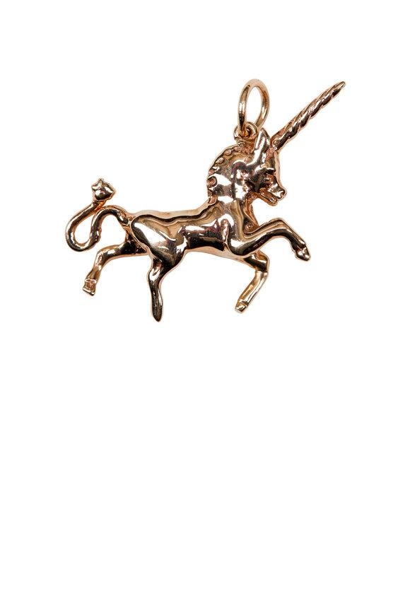 Emily & Ashley Gold Unicorn Pendant