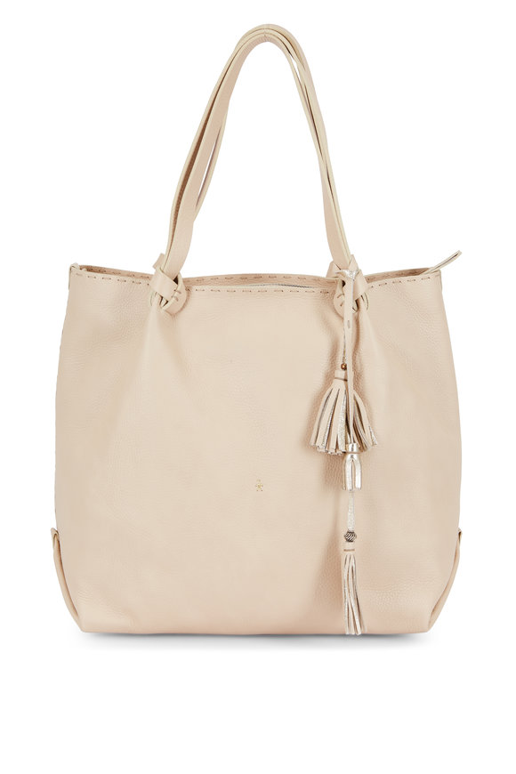 Henry Beguelin Frida Beige Cervo Leather Large Zip Tote