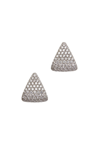 Kathleen Dughi - 18K White Gold Diamond Earrings