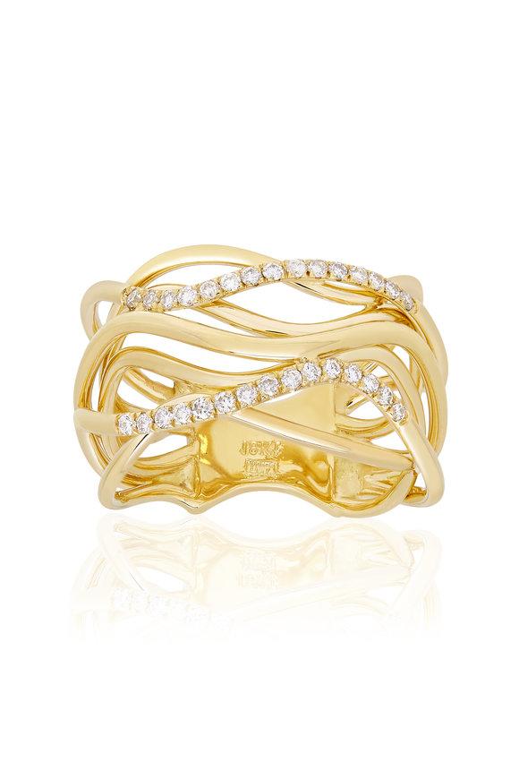 Alberto Milani Castello 18K Yellow Gold Diamond Ring
