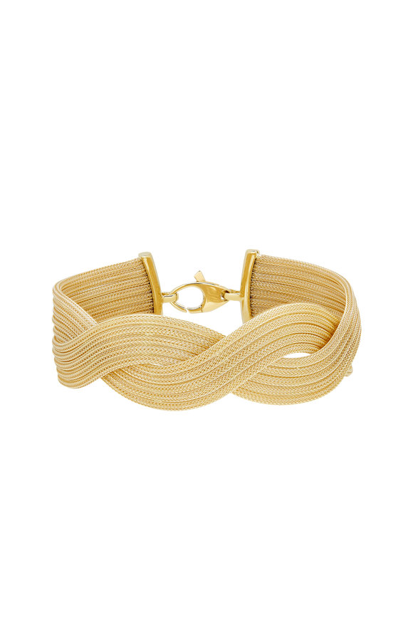 Alberto Milani 18K Yellow Gold Braided Mesh Bracelet
