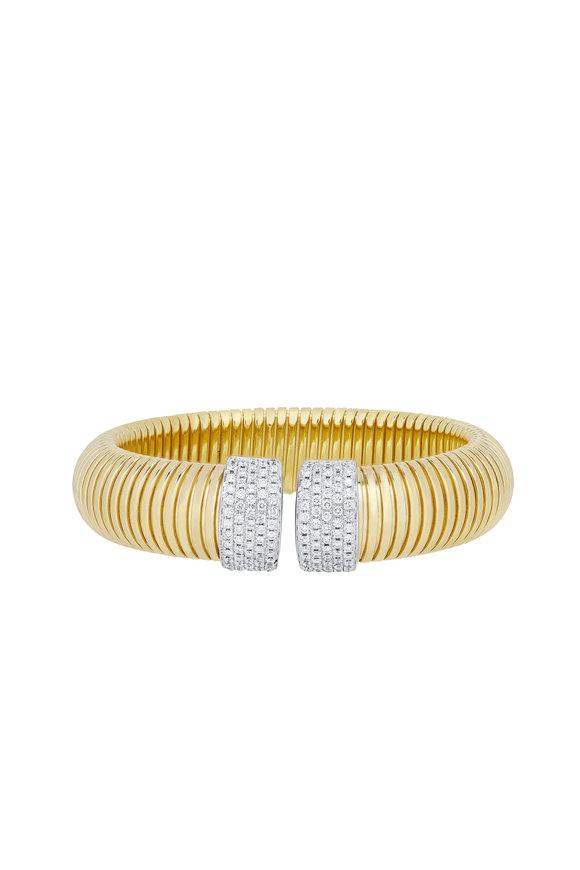 Alberto Milani Tubogas 18K Yellow Gold Cuff Bracelet
