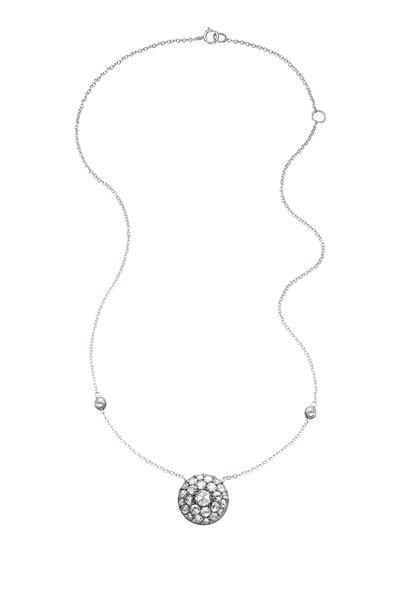 Nam Cho - 18K White Gold Button Diamond Necklace